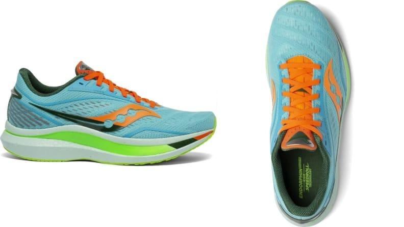 Saucony's Endorphin Speed is a springy, well-cushioned running shoe.