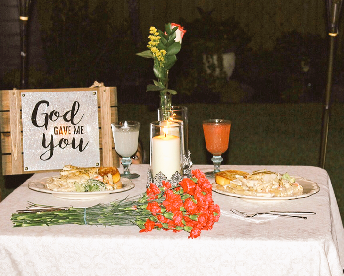 Quintanilla prepared roses and a romantic candlelight dinner for his new girlfriend