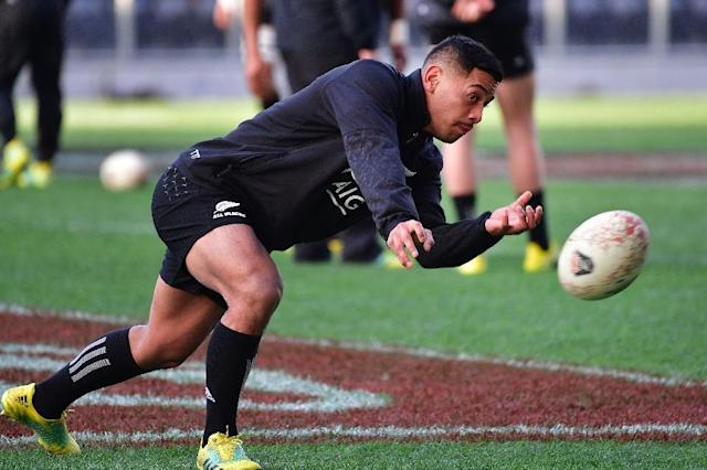 Shannon Frizell will make his debut as one of 10 All Blacks changes against France. (AFP Photo/Marty MELVILLE)