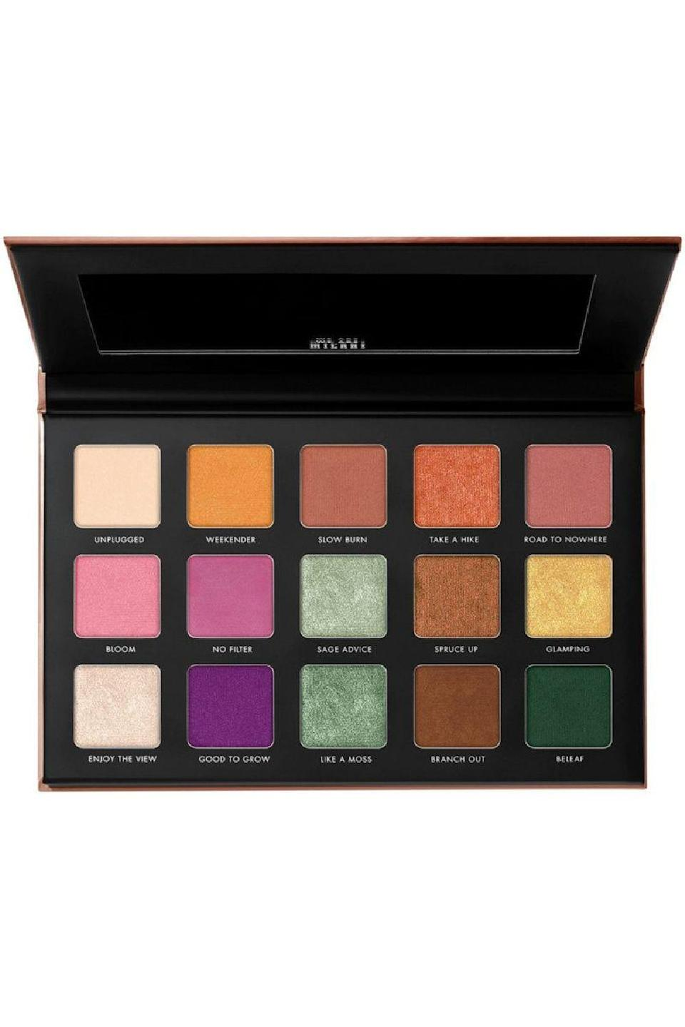 """<p><strong>Milani</strong></p><p>ulta.com</p><p><strong>$19.99</strong></p><p><a href=""""https://go.redirectingat.com?id=74968X1596630&url=https%3A%2F%2Fwww.ulta.com%2Fgilded-terra-eyeshadow-palette%3FproductId%3Dpimprod2021055&sref=https%3A%2F%2Fwww.cosmopolitan.com%2Fstyle-beauty%2Fbeauty%2Fg36596599%2Fbest-eyeshadow-palettes%2F"""" rel=""""nofollow noopener"""" target=""""_blank"""" data-ylk=""""slk:Shop Now"""" class=""""link rapid-noclick-resp"""">Shop Now</a></p><p>Here's the thing about <a href=""""https://www.cosmopolitan.com/style-beauty/beauty/g28550417/best-drugstore-eyeshadows/"""" rel=""""nofollow noopener"""" target=""""_blank"""" data-ylk=""""slk:drugstore eyeshadows"""" class=""""link rapid-noclick-resp"""">drugstore eyeshadows</a>: They can be really, really great, or really, really not. This one falls in the first category. Unlike cheap eyeshadows that offer dusty, faint, muddy shades, this palette proves that <strong>bright, bold, blendable colors and shimmers that actually show up </strong>*can* be done for an affordable price. </p>"""