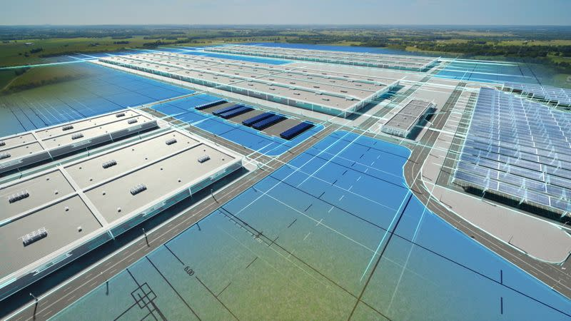 A battery manufacturing complex U.S automaker Ford Motor Co and its South Korean battery partner SK Innovation plan to build in Kentucky