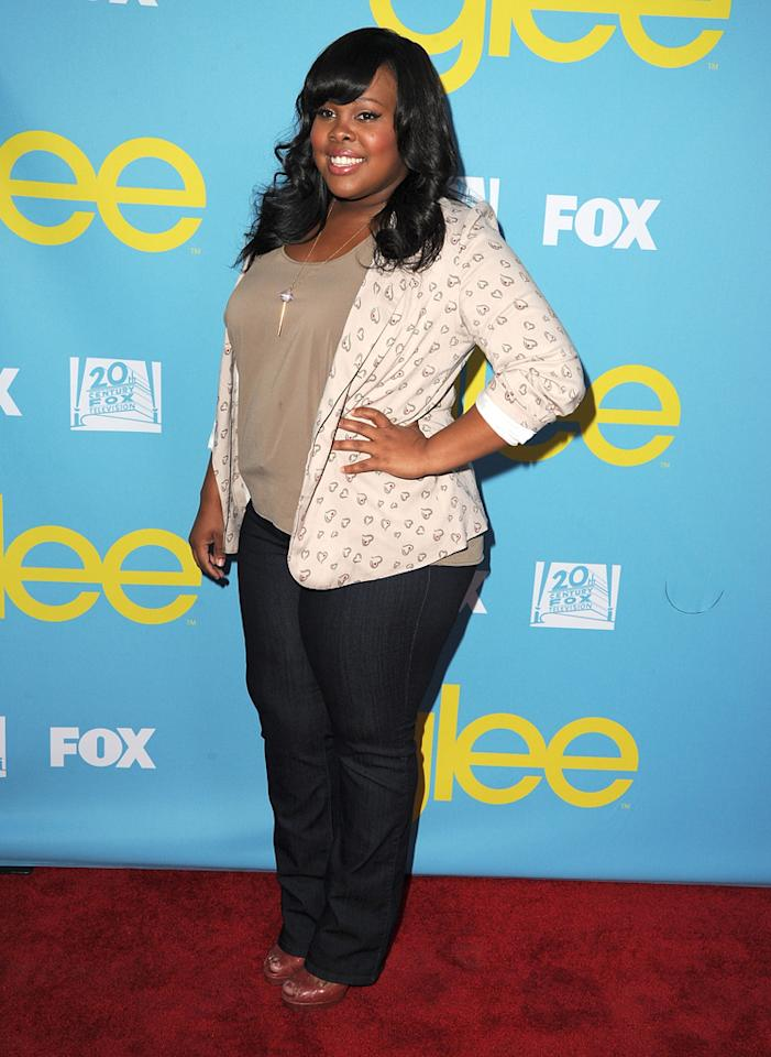 "Amber Riley attends a special screening of ""<a target=""_blank"" href=""http://tv.yahoo.com/glee/show/44113"">Glee</a>""  hosted by The Academy of Television Arts & Sciences at Leonard H.  Goldenson Theatre on May 1, 2012 in North Hollywood, California."