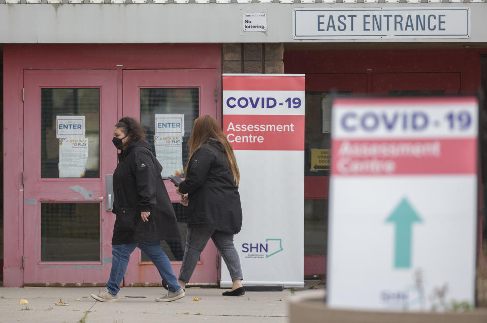 TORONTO, ON - OCTOBER 30: Scarborough Health Network set up a pop up COVID-19 assessment centre at the Malvern Recreation Complex today. CORONAPD Toronto Star/Rick Madonik (Rick Madonik/Toronto Star via Getty Images)