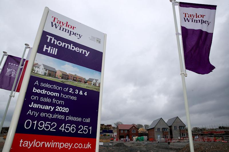 A Taylor Wimpey housing development in Telford where building work has ceased as the UK continues in lockdown to help curb the spread of the coronavirus: PA