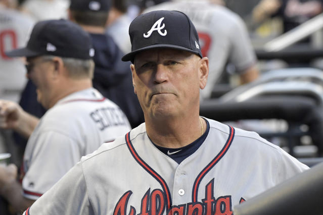 Brian Snitker of the Braves wins NL Manager of the Year, topping Craig Counsell of the Brewers and Bud Black of the Rockies. (AP)