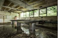 <p> Moldy exam tables sit empty - waiting for the next patient. </p>