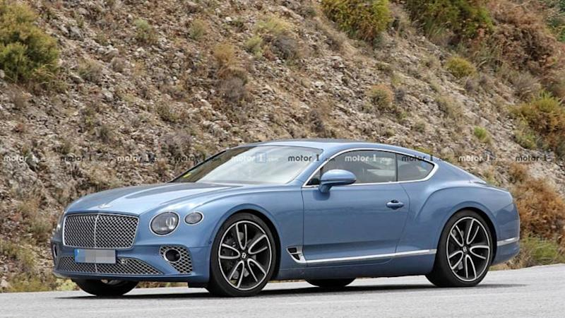 Bentley Continental GT hybrid spy photo