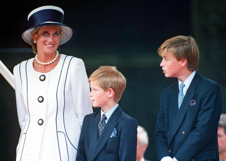 Princes Harry and William revealed how they were apart from their mother for nearly a month before she died (Rex)
