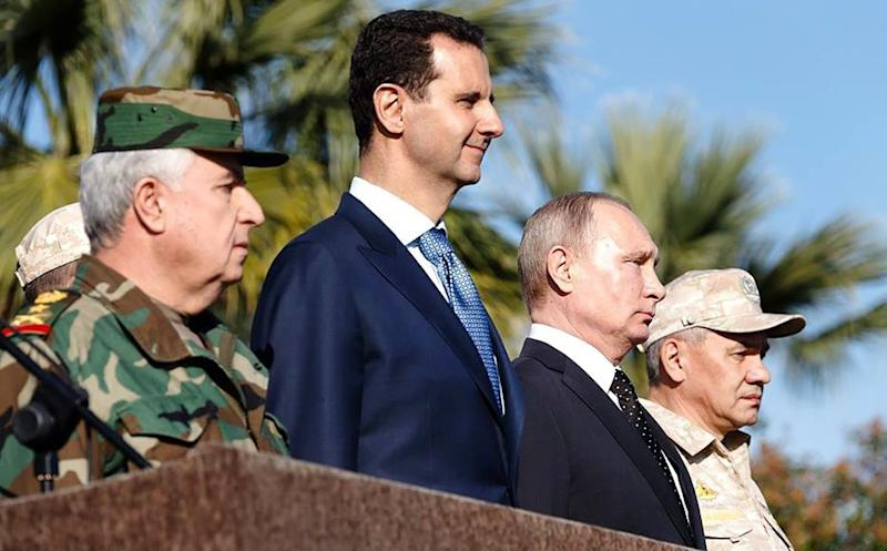 Russian President Vladimir Putin held talks with President Bashar al-Assad during his first visit to Syria (AFP Photo/-)