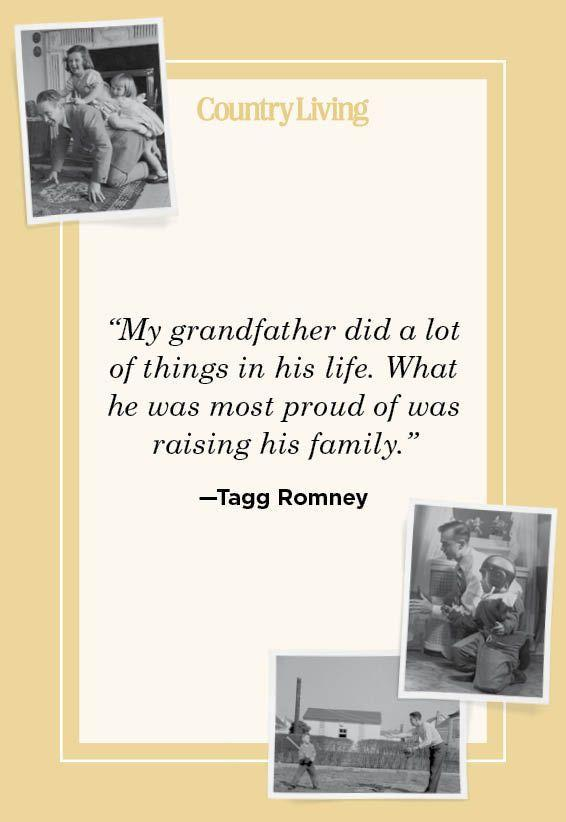 """<p>""""My grandfather did a lot of things in his life. What he was most proud of was raising his family.""""</p>"""