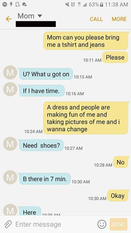 A girl's heartbreaking text messages to her mum have gone viral. Photo: Thato Tholo/Facebook
