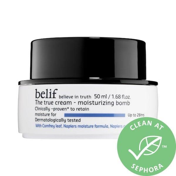<p><span>Belif The True Cream Moisturizing Bomb</span> ($22-$62) is a clean, rich cream that soothes flaky skin with oat and comfrey leaf.</p>