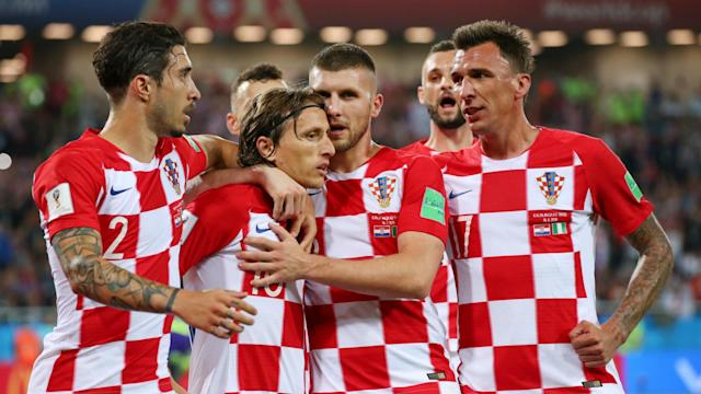 Nigeria are bottom of Group D after Stoke City's new signing Oghenekaro Etebo scored an own goal in a 2-0 loss to Croatia.