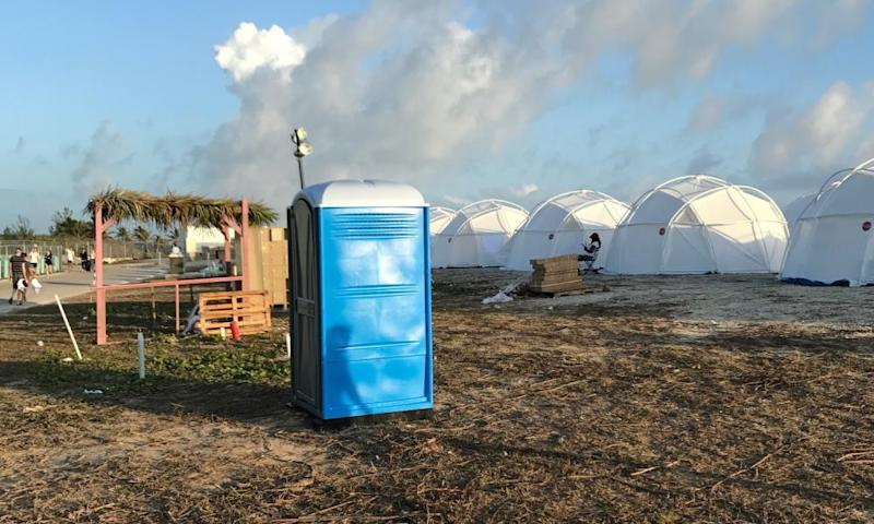 'This is an unacceptable guest experience and the Fyre team takes full responsibility for the issues that occurred' ... a statement from the organizers and a scene from the festival.