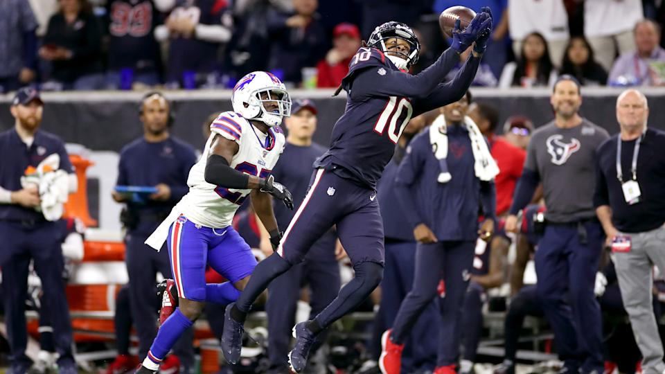 DeAndre Hopkins' catch radius makes him an unstoppable force. (Christian Petersen/Getty Images)