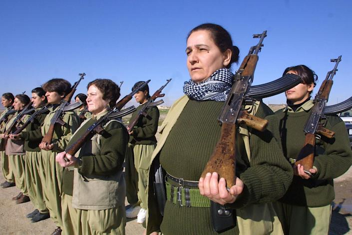 Female fighters form a key part of the Kurdish security forces in Iraq and Syria (AFP Photo/Atta Kenare)