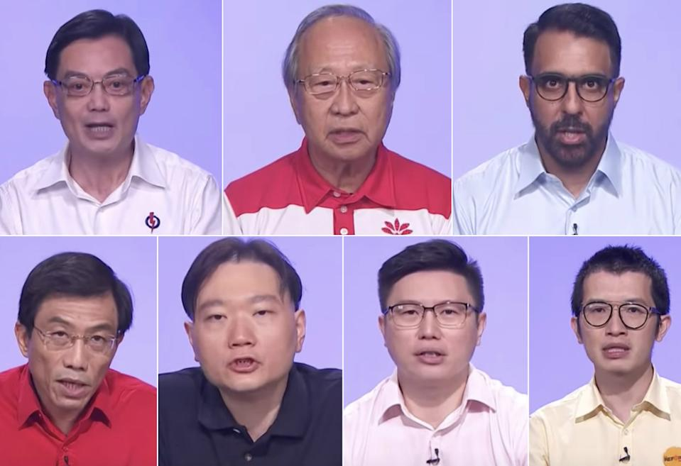 Seven political parties took to national television on 2 July, 2020. (SCREENCAPS: CNA)