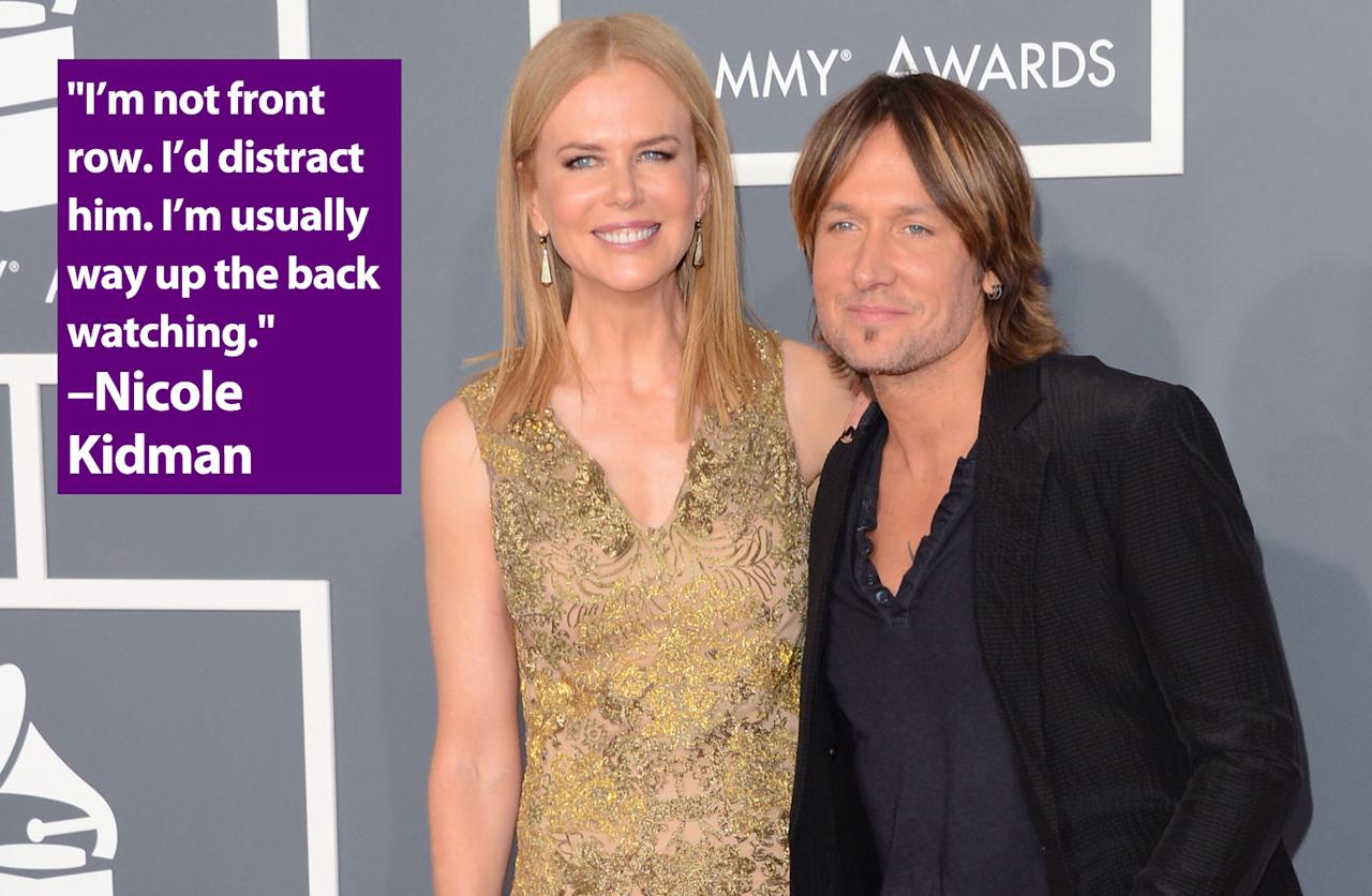 LOS ANGELES, CA - FEBRUARY 10:  Actress Nicole Kidman and singer Keith Urban arrive at the 55th Annual GRAMMY Awards at Staples Center on February 10, 2013 in Los Angeles, California.  (Photo by Jason Merritt/Getty Images)