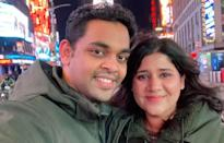 Vineeth Nair and his wife, Mahekk Nair, are set to fly from New York to Toronto on Thursday, but so far he has been unable to to book their stay at a quarantine hotel in Toronto.