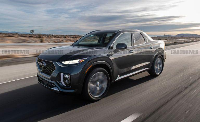 "<p>Hyundai's first pickup will be a midsize unibody-style truck named the <a href=""https://www.caranddriver.com/hyundai/santa-cruz"" rel=""nofollow noopener"" target=""_blank"" data-ylk=""slk:Santa Cruz"" class=""link rapid-noclick-resp"">Santa Cruz</a>, designed for larger cargo space instead of maximum towing. We expect it will be powered by the current Hyundai Santa Fe's 185-hp 2.4-liter four-cylinder or a 235-hp turbocharged 2.0-liter inline-four. Hopefully we see it sometime in 2021, with a price tag starting around $25,000. </p>"
