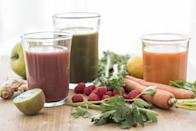 <p>Juices can easily tack on the calories—which may not align with your weight-loss efforts. Yes, even vegetable juice, which can contain added sugars. </p><p>Choose brands that have no (or very little) added sugar or make your own. Diluting bottled veggie juices with water can cut back on sugar, too.</p>