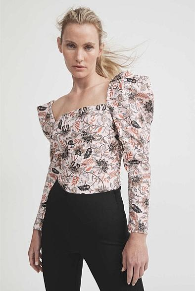 Print Puff Sleeve Top witchery