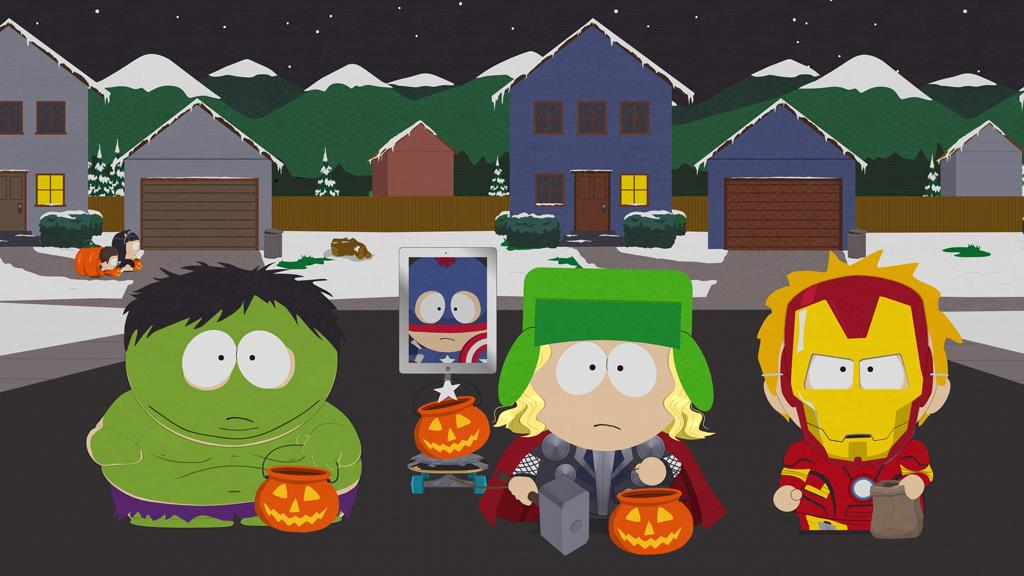 """<b>""""South Park""""</b> -- """"A Nightmare on Facetime""""<br>Wednesday, 10/24 at 10 PM on Comedy Central<br><br>The boys are all ready to dress up as their favorite foursome, the Avengers, for Halloween. After months of planning their costumes, at the last minute Randy tells Stan he can't go trick-or-treating. Instead, Stan has to pitch in and help his father with a new business venture."""