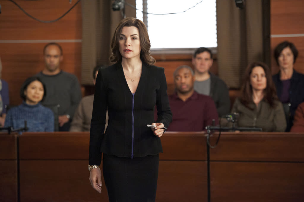 """Red Team/Blue Team"" -- When a client asks the firm to go through a mock trial to test their case , Alicia (Julianna Margulies) and Cary face off against Will and Diane in an increasingly tense exercise, on ""The Good Wife."""