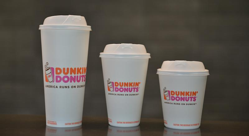 Instead of polystyrene foam cups, Dunkin' Donuts plans to offer these double-walled paper cups.