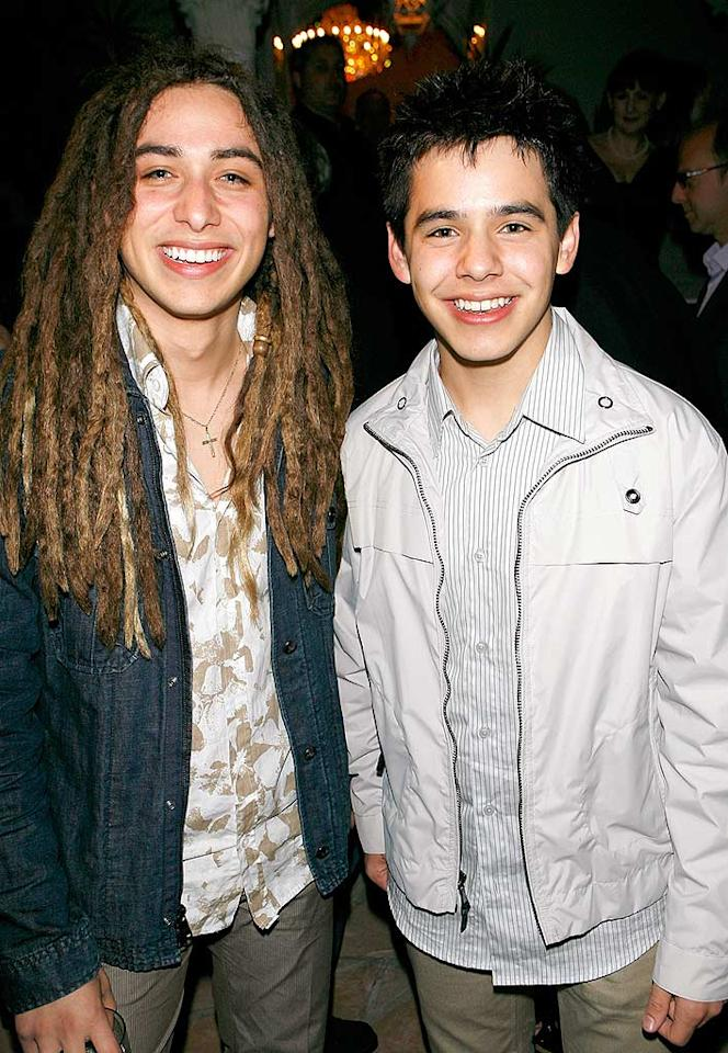 "Jason Castro and David Archuleta are all smiles at the launch of BritWeek 2008. The guys look relieved to have some time away from the ""Idol"" stage. Michael Bezjian/<a href=""http://www.wireimage.com"" target=""new"">WireImage.com</a> - April 24, 2008"