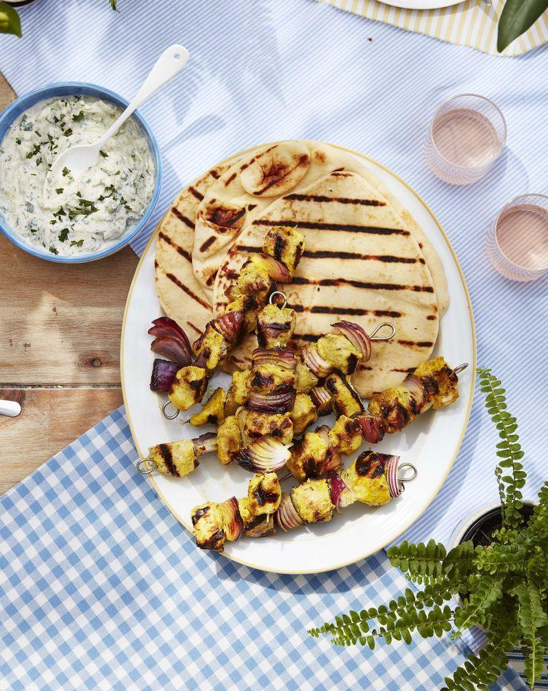 "<p>For those looking for something a little lighter, these kebabs don't sacrifice on flavor.</p><p><strong><a href=""https://www.countryliving.com/food-drinks/a32353054/marinated-chicken-and-onion-kebabs/"" rel=""nofollow noopener"" target=""_blank"" data-ylk=""slk:Get the recipe"" class=""link rapid-noclick-resp"">Get the recipe</a>.</strong> </p><p><a class=""link rapid-noclick-resp"" href=""https://www.amazon.com/BearMoo-Stainless-Barbecue-Grilling-Reusable/dp/B01JRU8GIQ/?tag=syn-yahoo-20&ascsubtag=%5Bartid%7C10050.g.3663%5Bsrc%7Cyahoo-us"" rel=""nofollow noopener"" target=""_blank"" data-ylk=""slk:SHOP GRILLING SKEWERS"">SHOP GRILLING SKEWERS</a></p>"