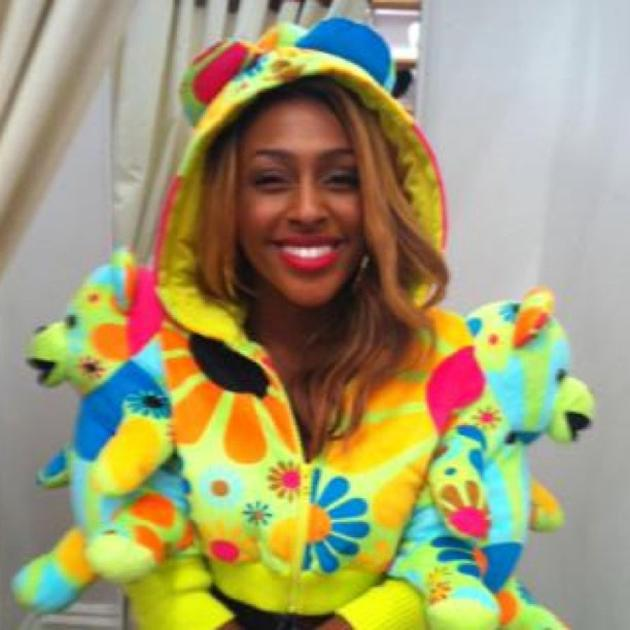 "Celebrity photos: Alexandra Burke is known for being super stylish – so we were pretty surprised to see that the singer had tried out a new, rather bright look. The singer tweeted this snap of herself wearing an interesting outfit, alongside the caption: ""Well I've always said I loved teddy bears! #GoofyAB"""