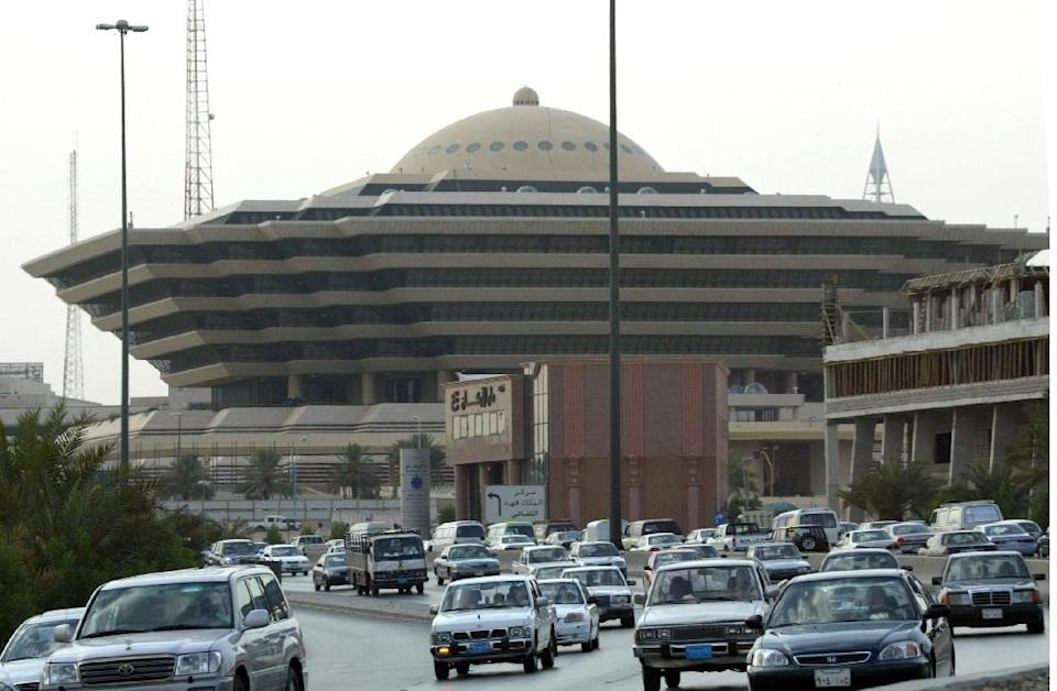 A view of the interior ministry in Riyadh, July 14, 2004 (AFP Photo/Patrick Baz)