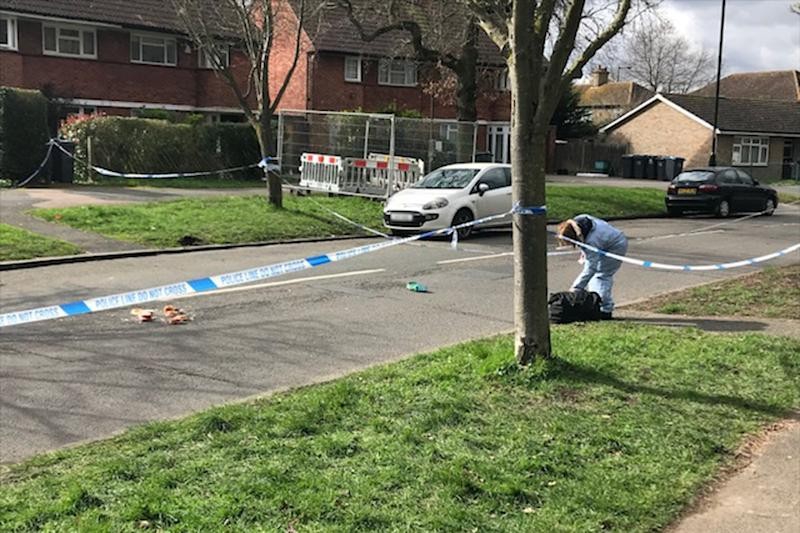 Forensic investigators were at the scene of the stabbing in Croydon on Wednesday (John Dunne/Evening Standard)