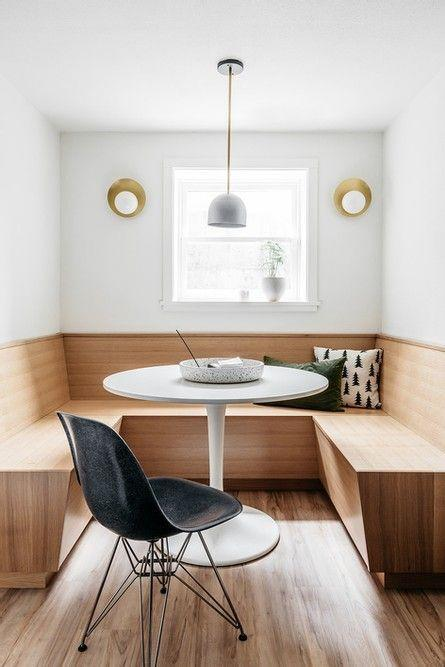 """<p>This Scandinavian basement embraces minimalism without sacrificing style. We especially love this perfect little nook with a built-in bench, a Saarinen-inspired tulip table, and a vintage Eames chair. </p><p><strong>See more <a href=""""https://www.anniewise.com/post/laurelhurst-basement-reveal"""" rel=""""nofollow noopener"""" target=""""_blank"""" data-ylk=""""slk:here"""" class=""""link rapid-noclick-resp"""">here</a> and at <a href=""""https://www.anniewise.com/"""" rel=""""nofollow noopener"""" target=""""_blank"""" data-ylk=""""slk:Wise Design"""" class=""""link rapid-noclick-resp"""">Wise Design</a>.</strong></p><p><a class=""""link rapid-noclick-resp"""" href=""""https://go.redirectingat.com?id=74968X1596630&url=https%3A%2F%2Fwww.walmart.com%2Fip%2FRound-Tulip-Dining-Table-Modern-Dining-Table-with-Stable-Metal-Pedestal-Base-31-5-Diameter-White-for-Leisure-Coffee-Office-Kitchen-Dining-Room%2F934200411&sref=https%3A%2F%2Fwww.redbookmag.com%2Fhome%2Fg36061437%2Fbasement-ideas%2F"""" rel=""""nofollow noopener"""" target=""""_blank"""" data-ylk=""""slk:SHOP TULIP TABLES"""">SHOP TULIP TABLES</a></p>"""