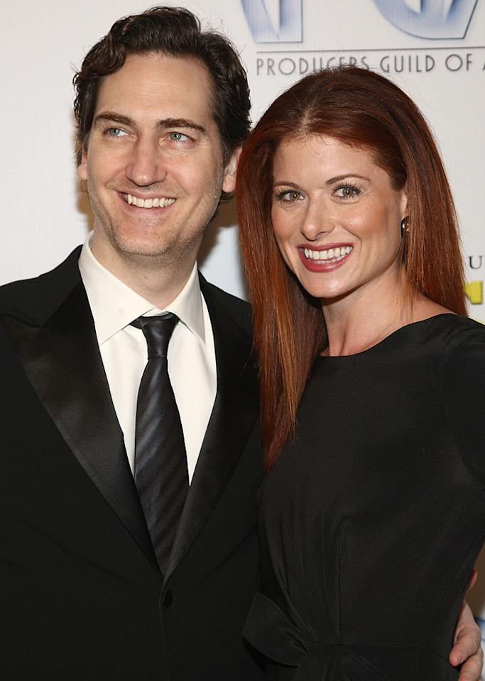 """<a href=""""http://movies.yahoo.com/movie/contributor/1804556062"""">Daniel Zelman</a> and <a href=""""http://movies.yahoo.com/movie/contributor/1802866877"""">Debra Messing</a> at the 20th Annual Producers Guild Awards in Hollywood - 01/24/2009"""