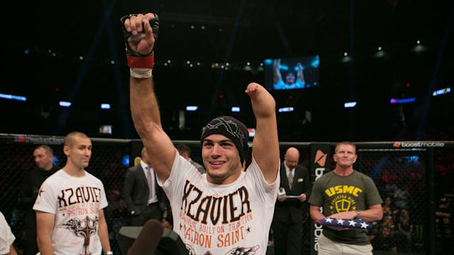 Nick Newell was born without a left hand, but that hasn't stopped him from climbing the ranks of the MMA world. (AP)