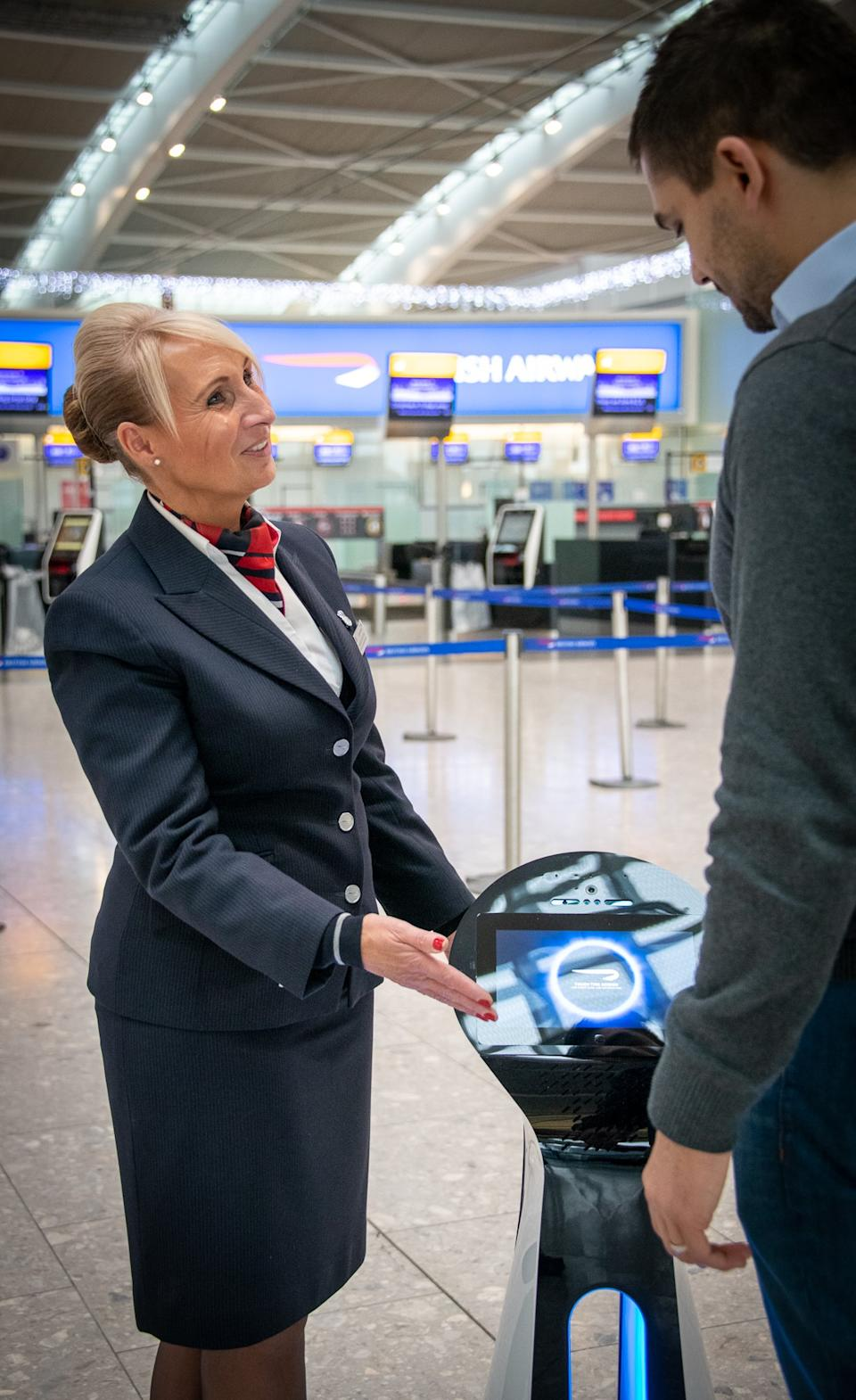 It is hoped the bots will make it easier for passengers to navigate through the airport (British Airways/PA)
