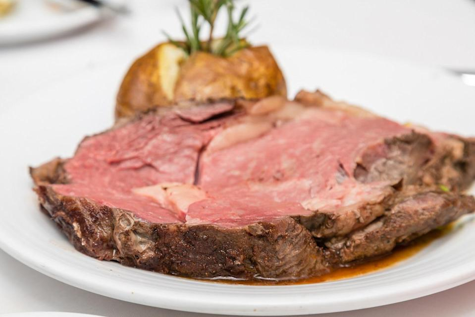 <p>For a boneless prime rib, plan on about half a pound of meat per person.</p>