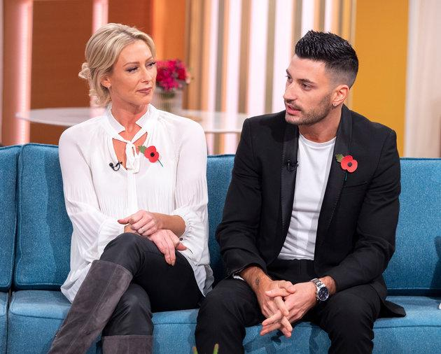 Faye Tozer and Giovanni Pernice