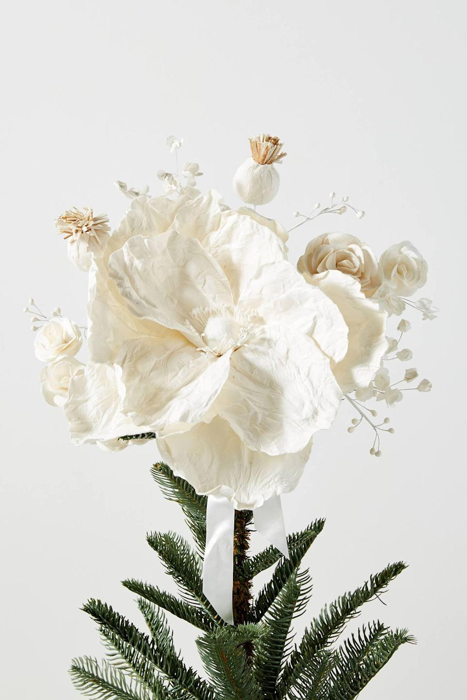 """<p>Give your tree a gorgeous finishing touch with the <a href=""""https://www.popsugar.com/buy/Mulberry-Paper-Flower-Tree-Topper-490483?p_name=Mulberry%20Paper%20Flower%20Tree%20Topper&retailer=anthropologie.com&pid=490483&price=78&evar1=casa%3Aus&evar9=46615300&evar98=https%3A%2F%2Fwww.popsugar.com%2Fhome%2Fphoto-gallery%2F46615300%2Fimage%2F46615353%2FMulberry-Paper-Flower-Tree-Topper&list1=shopping%2Canthropologie%2Choliday%2Cchristmas%2Cchristmas%20decorations%2Choliday%20decor%2Chome%20shopping&prop13=mobile&pdata=1"""" rel=""""nofollow noopener"""" class=""""link rapid-noclick-resp"""" target=""""_blank"""" data-ylk=""""slk:Mulberry Paper Flower Tree Topper"""">Mulberry Paper Flower Tree Topper</a> ($78).</p>"""
