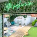 <p>From the egg chair to the neon sign, Kel has created a feel-good space.</p>