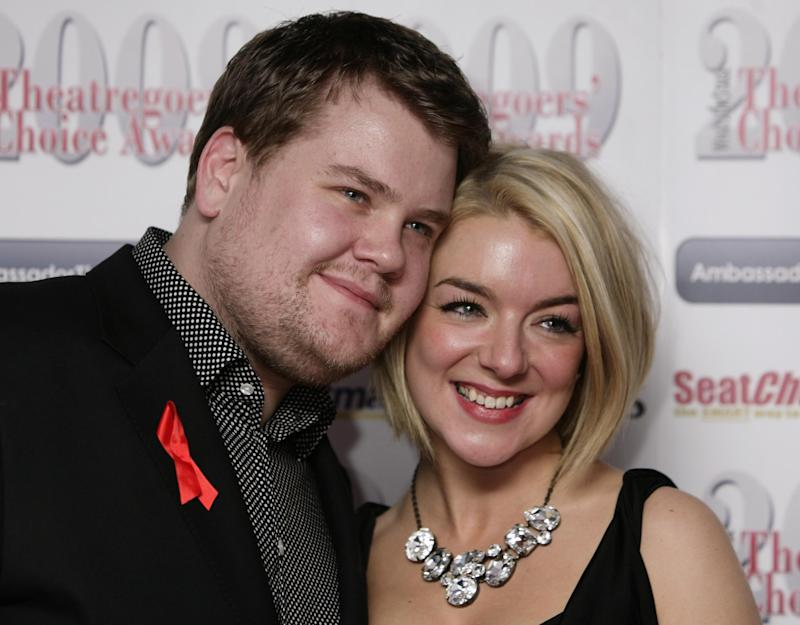Event hosts James Corden (Left) and Sheridan Smith at The Theatregoer's Choice Awards Show and Concert at the Prince of Wales Theatre in central London.