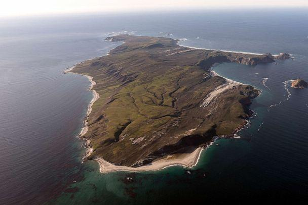 PHOTO: In this undated photo, an aerial view of Santa Rosa Island is shown, one of eight islands in the Channel Islands archipelago located in Santa Barbara Channel of the Pacific Ocean off the coast of Southern Calif. (Carol M. Highsmith/Buyenlarge/Getty Images)
