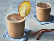 """<p>This apple pie smoothie is an easy way to treat yourself <b><i>and</i></b> pack some nutrients into your day. </p> <p><a href=""""https://www.myrecipes.com/recipe/apple-pie-smoothie"""" rel=""""nofollow noopener"""" target=""""_blank"""" data-ylk=""""slk:Apple Pie Smoothie Recipe"""" class=""""link rapid-noclick-resp"""">Apple Pie Smoothie Recipe</a></p>"""