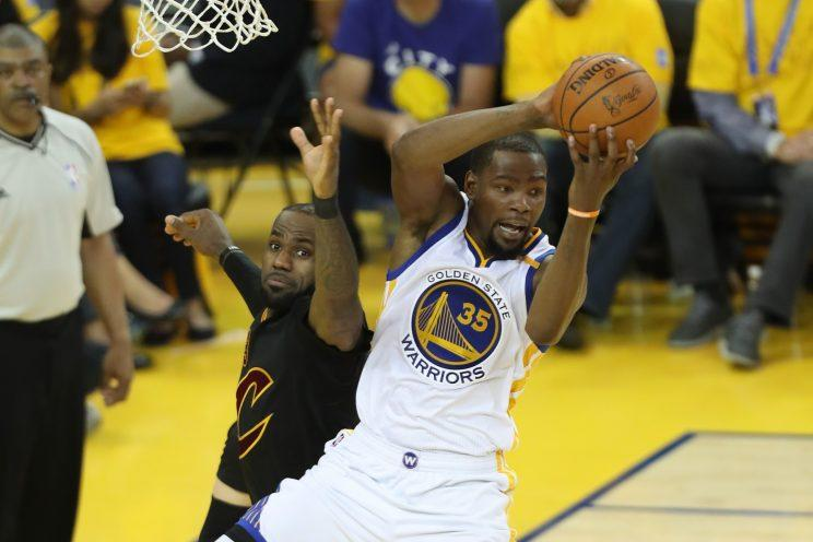 Kevin Durant has put the Warriors on a whole new level. (AP)