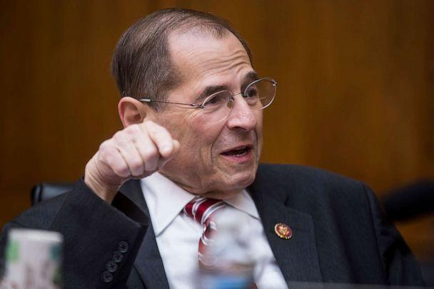 PHOTO: House Judiciary Chairman Jerrold Nadler is pictured at the start of a House Judiciary Committee hearing on Capitol Hill, June 11, 2019, in Washington. (Zach Gibson/Getty Images)