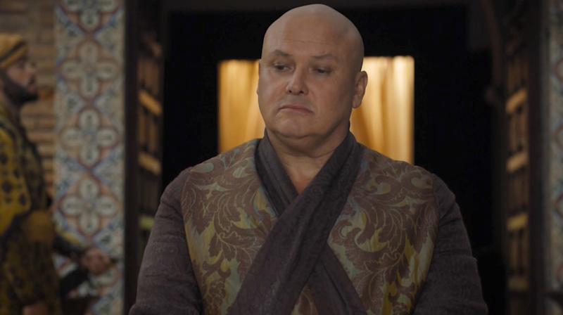Los Angeles.CA.USA. Conleth Hill as Varys in a scene in the ©HBO TV series, Game of Thrones, (TV) (2016) (S6E10). Ref: LMK112-60769-280616 Editorial Only. Landmark Media is not the copyright owner of these Film or TV stills but provides a service only for recognised Media outlets. Filmstill // HANDOUT / EDITORIAL USE ONLY! Please note: Fees charged by the agency are for the agency?s services only, and do not, nor are they intended to, convey to the user any ownership of Copyright or License in the material. The agency does not claim any ownership including but not limited to Copyright or License in the attached material. By publishing this material you expressly agree to indemnify and to hold the agency and its directors, shareholders and employees harmless from any loss, claims, damages, demands, expenses (including legal fees), or any causes of action or allegation against the agency arising out of or connected in any way with publication of the material.