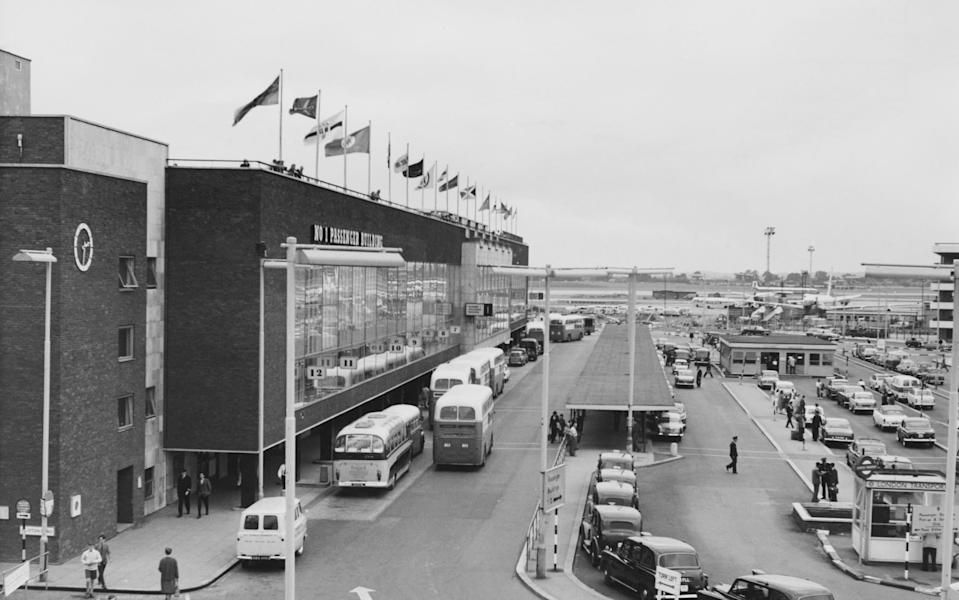 The No. 1 Passenger Building at London Airport, later Heathrow Airport, London, August 1963. (Photo by Les Graves/Fox Photos/Getty Images) - Getty