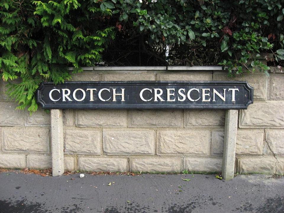 <p>Keep an eye out for Crotch Crescent if you're ever in Oxford. </p>